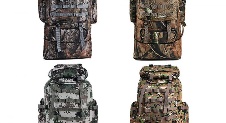 100L Outdoor Molle Military Tactical Bag Camping Hiking Trekking Backp...