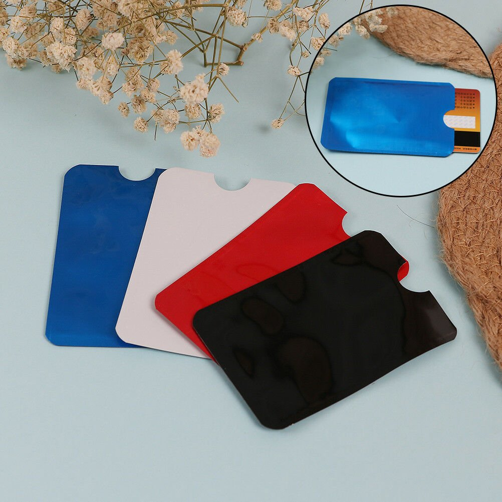 10X colorful RFID credit ID card holder blocking protector case shield...