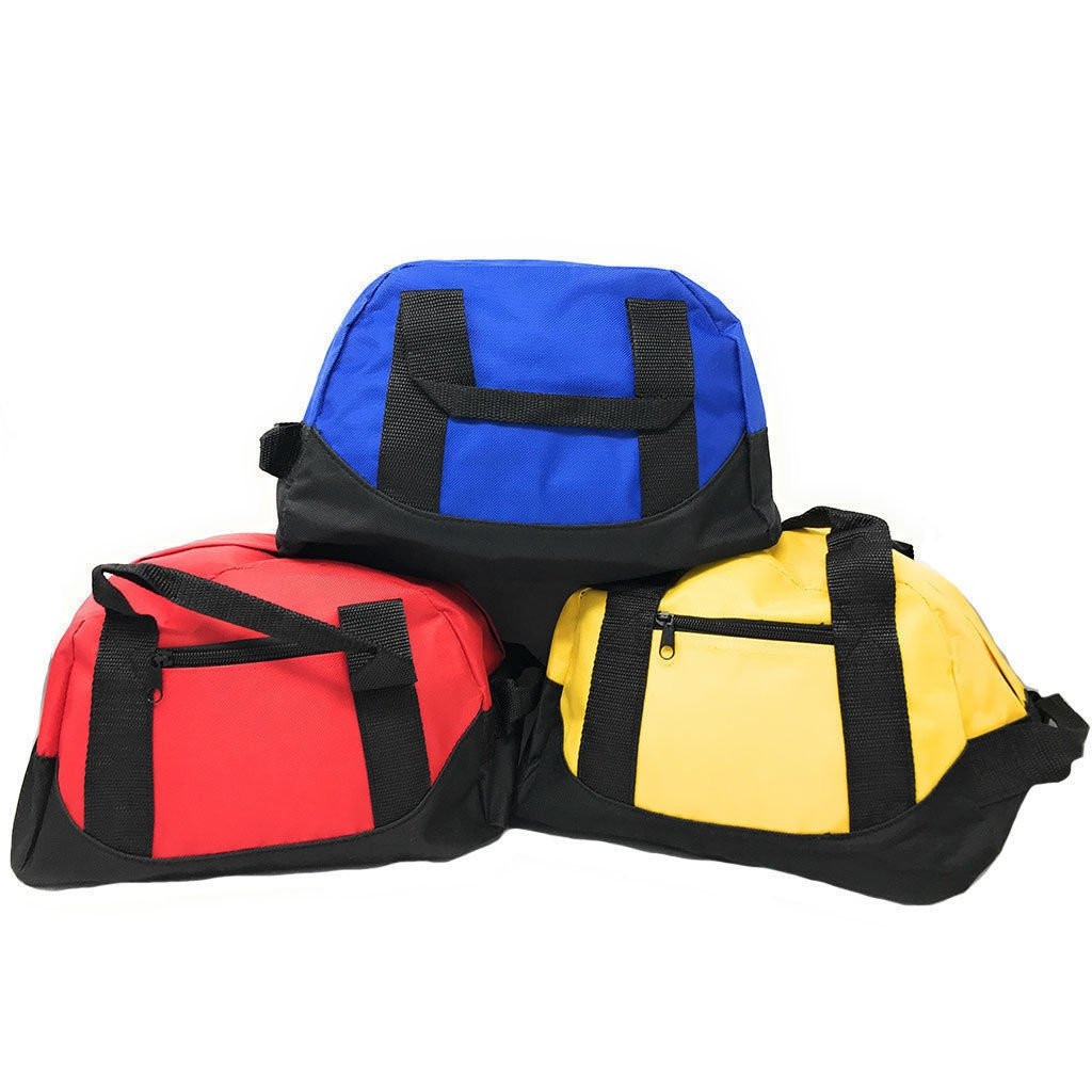 """12"""" Duffel Duffle Sports Travel Gym Bags Mini Carry-on Luggage Fitness..."""