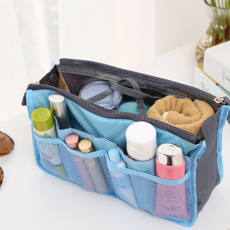 1pcs Women Travel Insert Makeup Handbag Organiser Purse Tidy Bag Pocke...