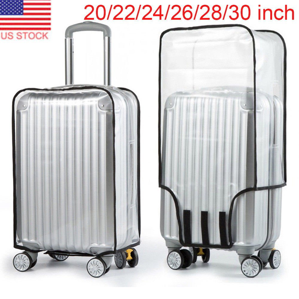 """20-30"""" Waterproof Clear Transparent Travel Luggage Suitcase Cover Case..."""