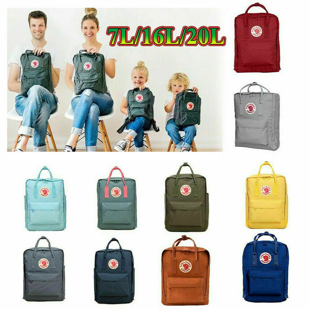 20/16/7L Fjallraven Kanken Waterproof Handbag Outdoor Travel Bag Sport...