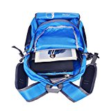 Bekahizar Lightweight Foldable Backpack 35L Ultralight Packable Daypack Durable for Traveling Day Trips exterior Sports Hiking Trekking Camping Cycling (Blue) - H3Y74I