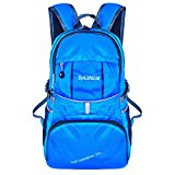 Bekahizar Lightweight Foldable Backpack 35L Ultralight Packable Daypack Durable for Traveling Day Trips exterior Sports Hiking Trekking Camping Cycling (Blue) - MGWbxC