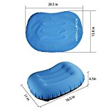 Moon Lence Ultralight Inflatable Travel/Camping Pillow-Soft&Exquisite Fabric,Compact,Compressible,Ergonomic Design For Side Sleepers and Neck&Lumber Support When Camping,Traveling,Backpacking - OvUhJC