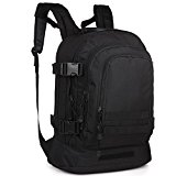 40L Exterior Expandable Tactical Backpack Military Sport Camping Hiking Trekking Bag (Black 08002B) - R7RB0v
