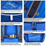 Bekahizar Lightweight Foldable Backpack 35L Ultralight Packable Daypack Durable for Traveling Day Trips exterior Sports Hiking Trekking Camping Cycling (Blue) - VLpmQg
