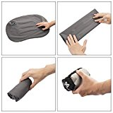 Moon Lence Ultralight Inflatable Travel/Camping Pillow-Soft&Exquisite Fabric,Compact,Compressible,Ergonomic Design For Side Sleepers and Neck&Lumber Support When Camping,Traveling,Backpacking - icS1In