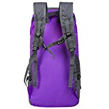 Coreal 35L Large Lightweight Collapsible Packable Travel Hiking Backpack Trekking Bag Purple - vfmUsO