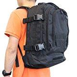 40L Exterior Expandable Tactical Backpack Military Sport Camping Hiking Trekking Bag (Black 08002B) - w4eoIO