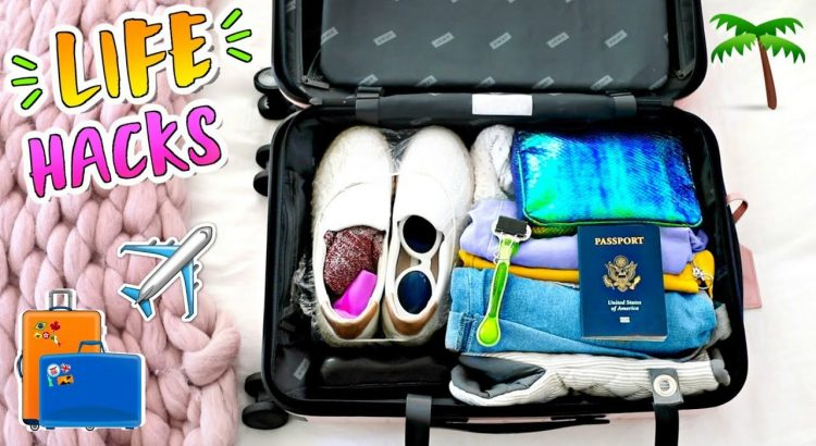 9 Travel lifestyle Hacks + How to Pack for Vacation!! - 9 Travel Life Hacks How to Pack for Vacation 750x410