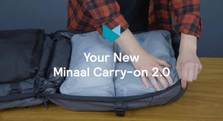 Minaal Carry-on 2.0 Travel Backpack | How to start out Packing - Minaal Carry on 2.0 Travel Backpack How To Start Packing 750x410
