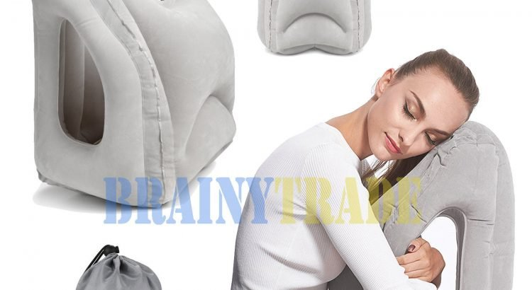 Travel Neck Pillow Inflatable for Airplanes Flight Cervical Support He...