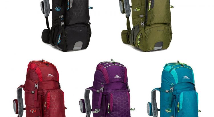High Sierra Tech 2 Series Titan 55 Liter Frame Hiking Backpack - Choos...