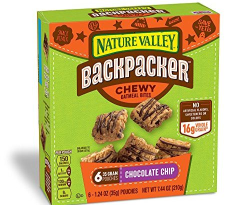Nature Valley Backpacker Chocolate Chip Chewy Oatmeal Bites 7.44 oz. P... - Nature Valley Backpacker Chocolate Chip Chewy Oatmeal Bites 7.44 oz. P 500x410