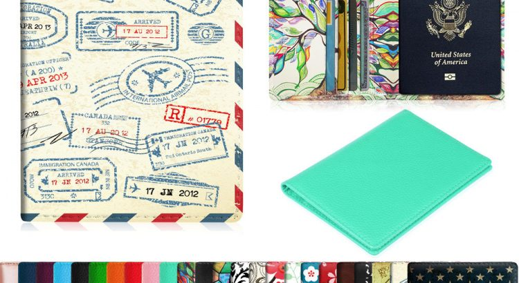 Premium Vegan Leather Travel Passport Holder RFID Blocking Cards Case ...