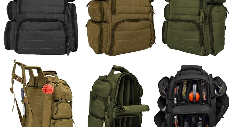 Every Day Carry R4 Tactical Range Backpack w/ Adjustable Partitions