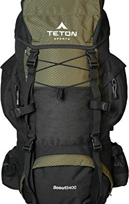Teton Sports Scout 3400 Internal Frame Backpack; High-Performance Back... - Teton Sports Scout 3400 Internal Frame Backpack High Performance Back 259x410