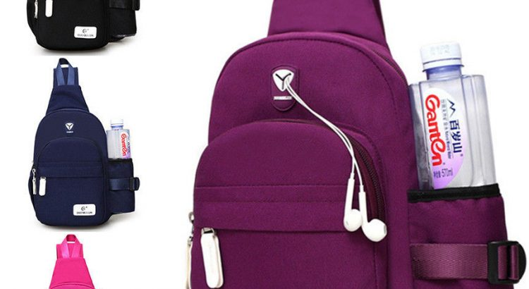 Men Women Nylon Crossbody Shoulder Chest Cycle Sling Bag Daily Travel ...
