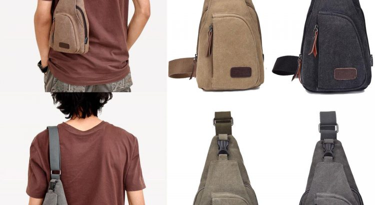 Men's Military Canvas Satchel Shoulder Bag Messenger Bag Travel Hiking...