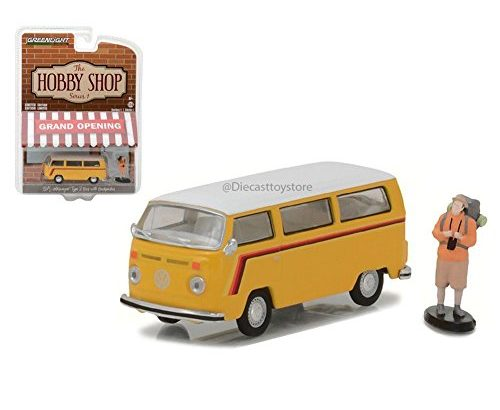 1975 Volkswagen Type 2 Bus Yellow with Backpacker The Hobby Shop Serie... - 1975 Volkswagen Type 2 Bus Yellow with Backpacker The Hobby Shop Serie 500x410