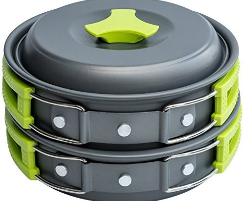 MalloMe Camping Stove Cookware Mess Kit Gear - Backpacking & Hiking Co... - MalloMe Camping Stove Cookware Mess Kit Gear Backpacking Hiking Co 500x410