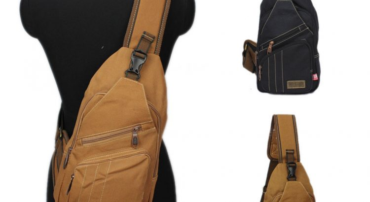 Men Canvas Travel Hiking Cross Body Messenger Shoulder Back pack Sling...