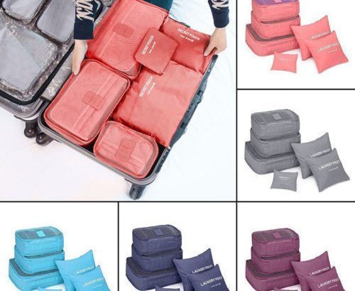USSTOCK Travel Storage Bag Waterproof Clothes Packing Cube Luggage Org...