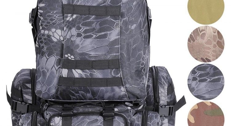 55L Backpack Molle Sport Military Tactical Bag Camping Hiking Trekking...