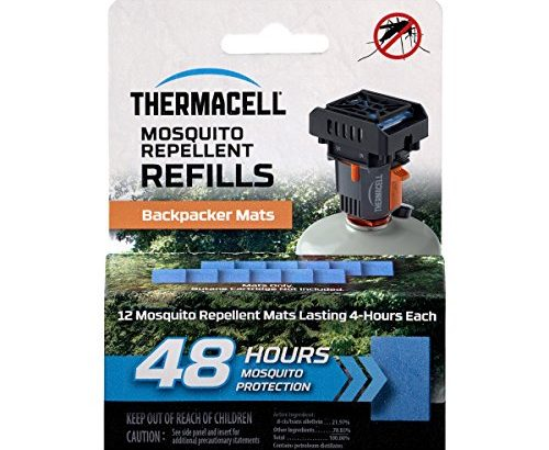 Thermacell M-48 Backpacker Mat-Only Refill, 48 Hour Pack (12 Repellent... - Thermacell M 48 Backpacker Mat Only Refill 48 Hour Pack 12 Repellent 500x410