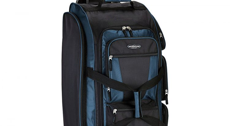 "Travelers Club Luggage 30"" Xpedition Multi-Pocket Rolling Duffel NEW"