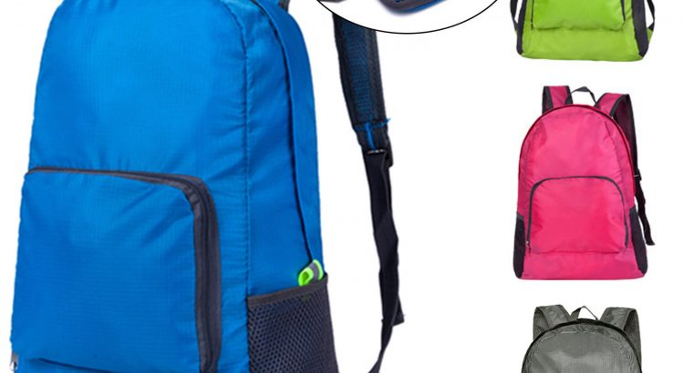 Portable Foldable Lightweight Travel Backpack Daypack Bags Sports Camp...