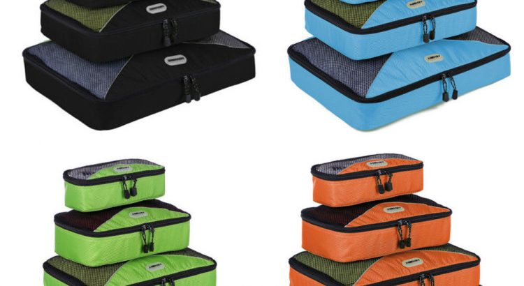 Waterproof Travel Packing Organizer Cubes Clothes Storage Bags Luggage...