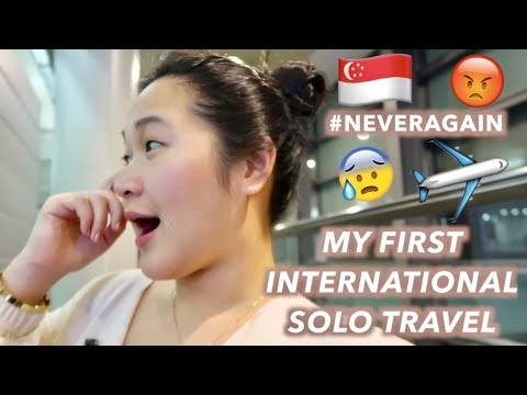 TRAVELING ALONE FOR THE FIRST TIME  + SINGAPORE DAY 1 ?? | VLOG