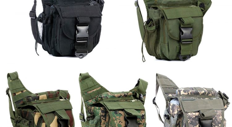 Tactical DSLR Camera Shoulder Pouch Waist Pack Travel Hiking Military ...