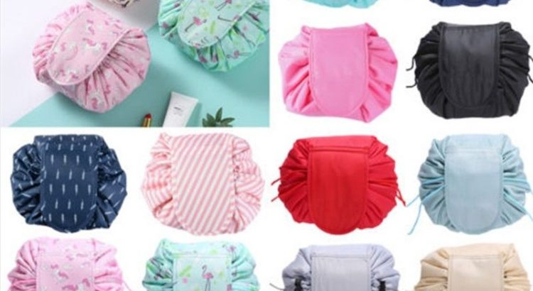 Toiletry Bag Lazy Makeup Bag Quick Pack Travel Bag Drawstring Storage ...