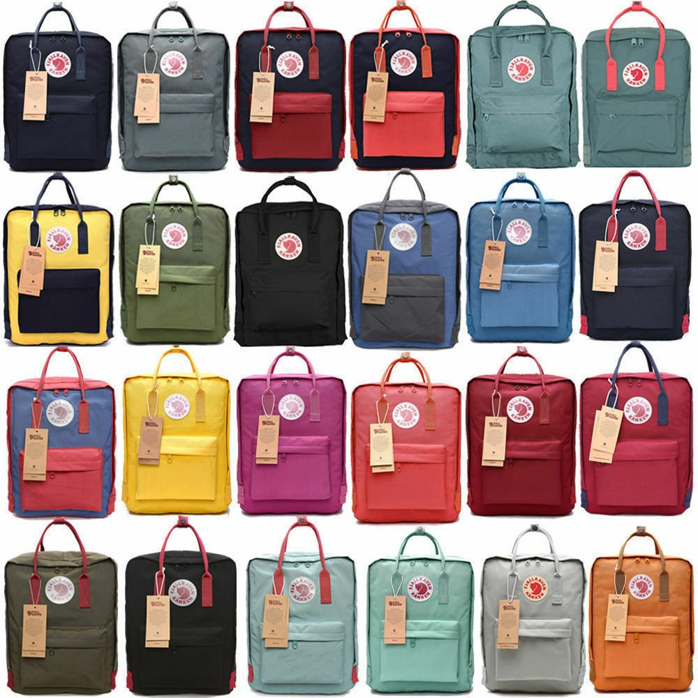 20L/16L/7L Fjallraven Kanken Waterproof sport Backpack Classic School ...