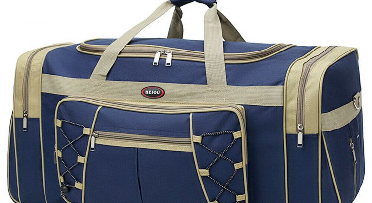 "25"" Men Travel Gym Duffle Bag Sports Waterproof Blue Tote Handbag Over..."