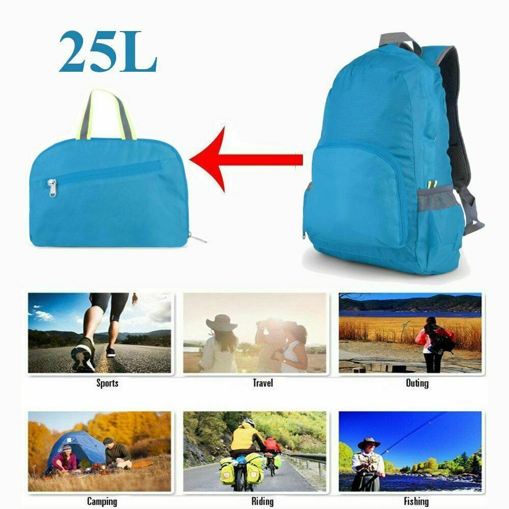 25L Foldable Outdoor Travel Backpack Women Men Hiking Sports Camping B...