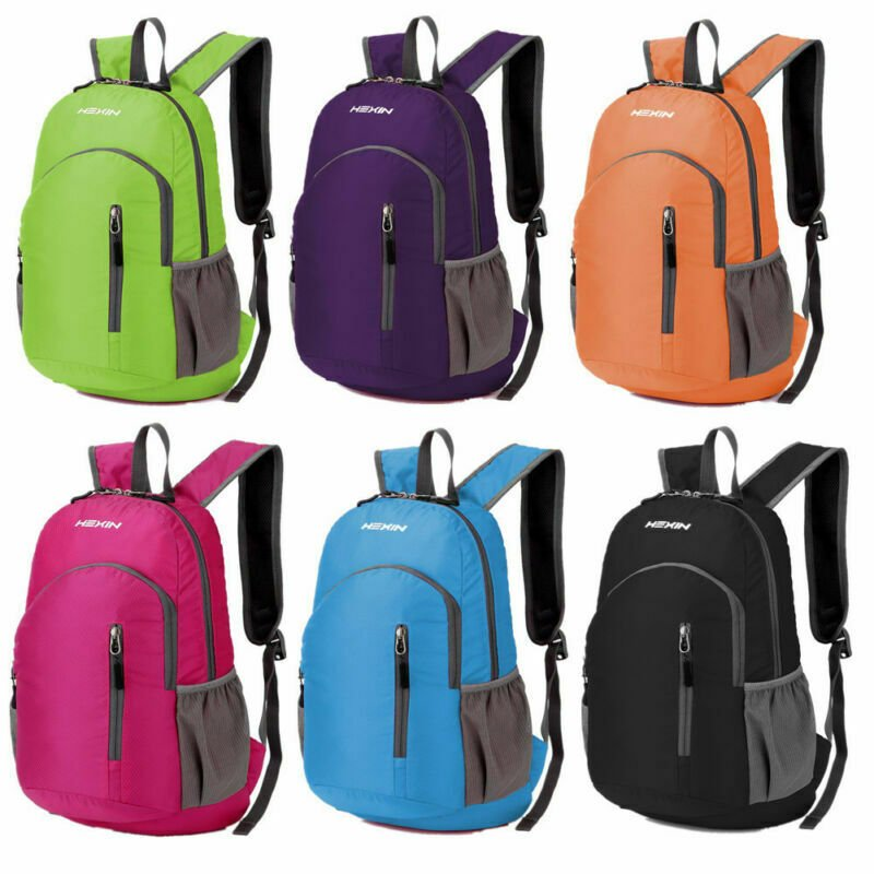 25L Foldable Waterproof Travel Sports Backpack Hiking Rucksack School ...