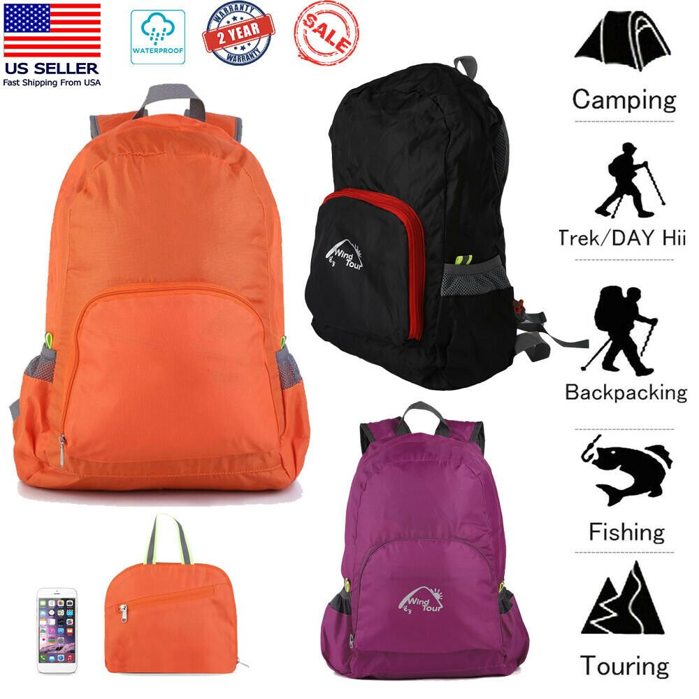 25L Hiking Backpack Camping Rucksack Waterproof Casual Shoulder Travel...