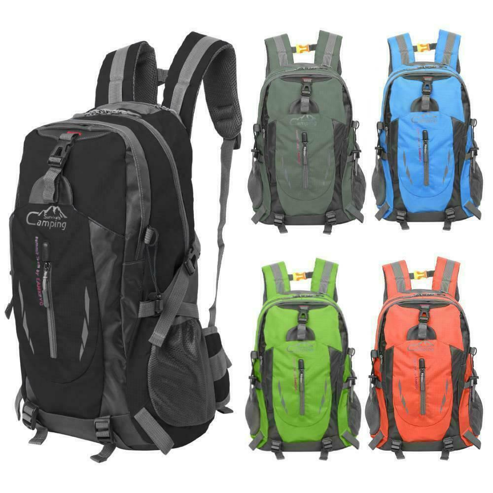 30L Sport Backpack Outdoor Waterproof Hiking Camping Rucksack Unisex D...