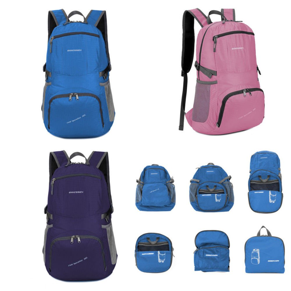 35L Foldable Backpack Durable Waterproof Unisex Sports Backpack Hiking...