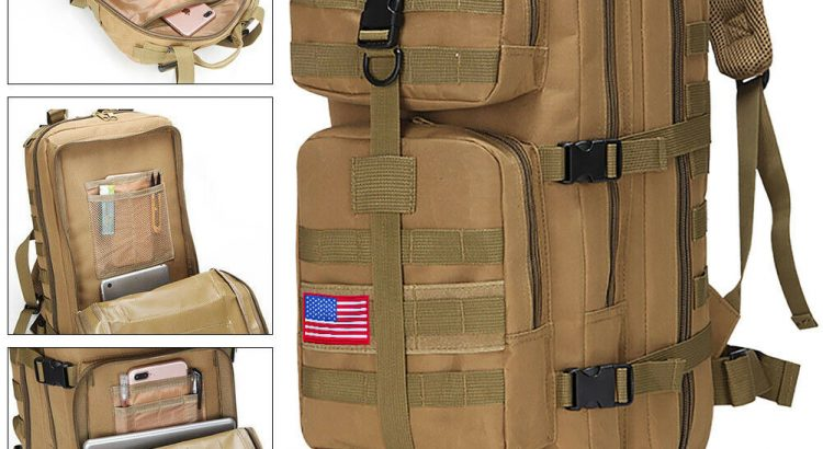 35L Outdoor Military Molle Tactical Backpack Rucksack Camping Bag Trav...