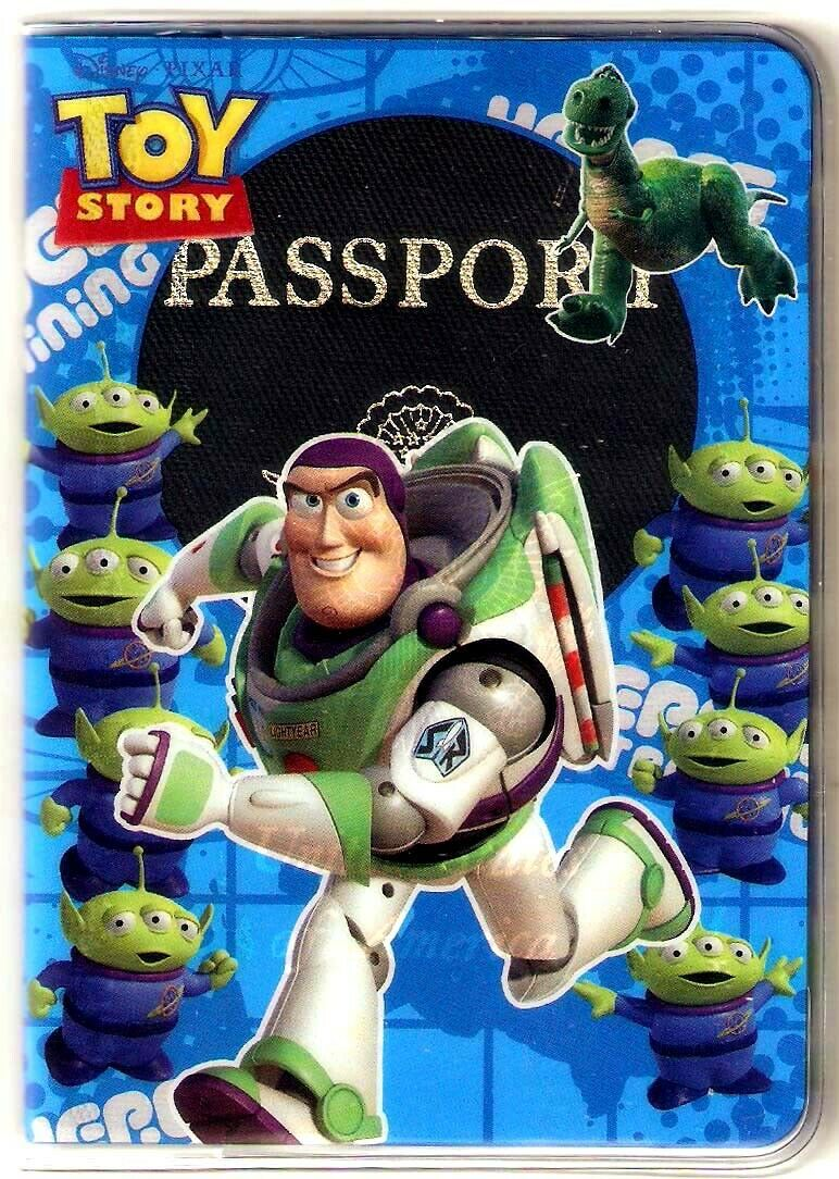 "3.5X5"" Buzz Lightyear PASSPORT COVER Holder Travel Wallet Toy Story Re..."