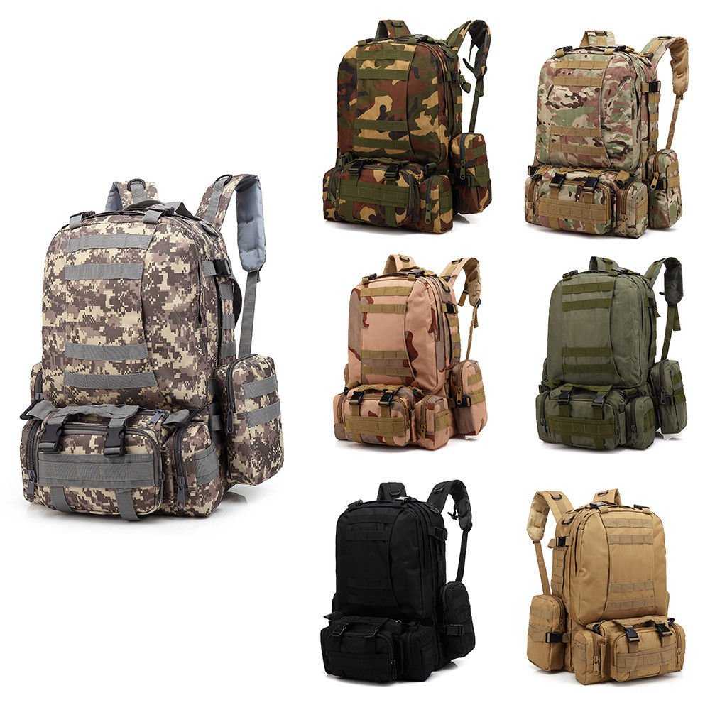3D Molle Military Tactical Backpack Large 55L Outdoor Rucksack Waterpr...