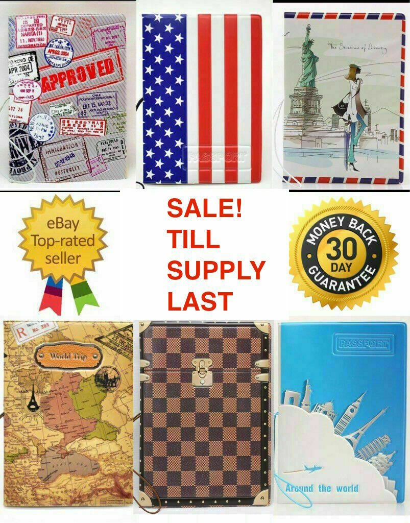 3D World Map Hard Case Passport Cover Holder Travel (BUY 1 GET 1 50% O...
