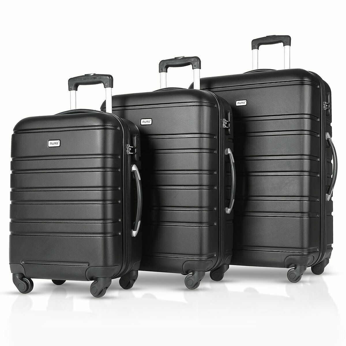 """3PCS Luggage Travel Set ABS Spinner Bag Trolley Suitcase w/ Lock 20"""" 2..."""