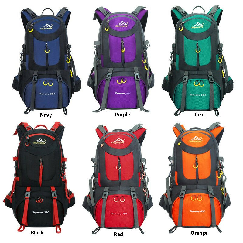 40L 50L 60L Sports Hiking Backpack Trekking Camping Rucksack Outdoor T...
