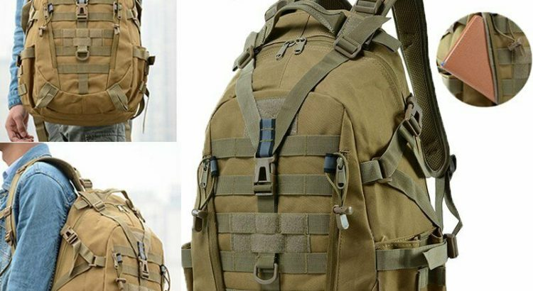 40L Camping Tactical Military Travel Backpack Climbing Hiking Outdoor ...